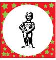 black 8-bit manneken pis statue in brussels vector image vector image