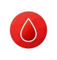 Blood donation symbol or logo vector image