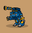 Blue Cannon Robot vector image vector image