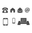 bussines card icons vector image vector image