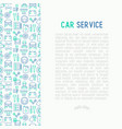 car service concept with thin line icons vector image vector image