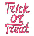 cartoon word trick or treat isolated on white vector image