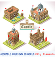 Castle 01 Tiles Isometric vector image vector image