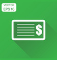 check money icon business concept banking vector image vector image