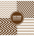 chevron seamless pattern background set brown vector image