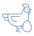 chicken with egg line icon concept chicken with vector image vector image