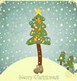 Christmas tree and snow vector image