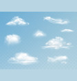 clouds realistic isolated set vector image vector image