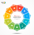 colorful infographic template with circle chart 11 vector image vector image