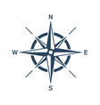 compass on white background vector image vector image
