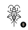 cricket insect stylized logo vector image vector image