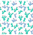 cute prickly pear cactus pattern hand drawn vector image vector image