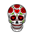 Day of the dead skull skull sugar flower