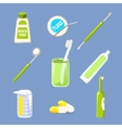 Dentist Icons and Teeth Care Collection vector image