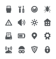Device security icon set vector image vector image