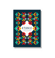 ethnic style original colorful ethno tribal vector image vector image