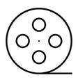 film reel line icon cinema production symbol vector image vector image