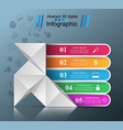 five items - origami style infographic vector image vector image