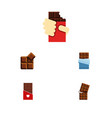 flat icon bitter set of shaped box chocolate vector image vector image