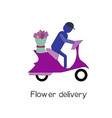 flower delivery delivery concept vector image vector image