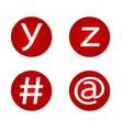 font letter vector image