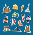 france sights stickers vector image vector image