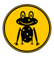 Frog icon on button on white vector image