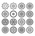 gear outline icon set vector image vector image