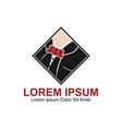 gentleman fashion logo vector image