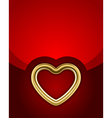 gold glossy heart vector image vector image