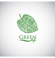 Green life doodle leaf like logo icon vector image
