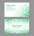 Green mosaic business card template design vector image vector image