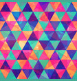 grunge triangle seamless pattern vector image vector image
