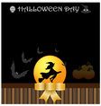 Halloween day background vector image