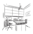 Hand drawn workplace vector image vector image