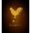 happy new year 2017 background year rooster vector image
