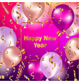 happy new year celebration background with gold vector image vector image