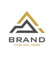initial logo design a vector image vector image