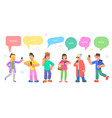 isometric flat concept chatting people vector image vector image