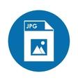 Jpg file icon vector image
