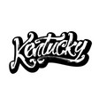 kentucky sticker modern calligraphy hand vector image vector image