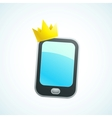 king phone vector image vector image