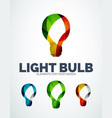 Light bulb abstract symbols new idea vector image