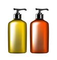 liquid soap or hygiene lotion bottle set vector image vector image