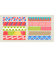 masking tape graphic set vector image vector image