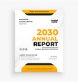 modern annual report business brochure flyer vector image
