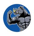 Muscular Rhino2 vector image vector image