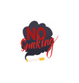 no smoking restriction symbol cigarette vector image vector image