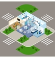One Storied Office Isometric Interior Icon vector image vector image
