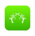 paintball guns icon digital green vector image